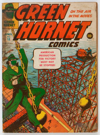 Green Hornet Comics #12 (Harvey, 1943) Condition: GD/VG