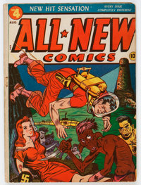All-New Comics #4 (Harvey, 1943) Condition: GD