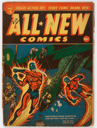 All-New Comics #5 (Harvey, 1943) Condition: GD