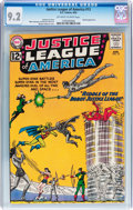 Silver Age (1956-1969):Superhero, Justice League of America #13 (DC, 1962) CGC NM- 9.2 Off-white to white pages....