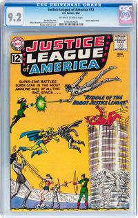 Justice League of America #13 (DC, 1962) CGC NM- 9.2 Off-white to white pages