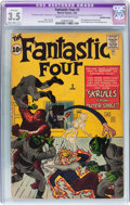 Silver Age (1956-1969):Superhero, Fantastic Four #2 Married Pages (Marvel, 1962) CGC Apparent VG- 3.5 Slight to Moderate (C-2) Cream to off-white pages....