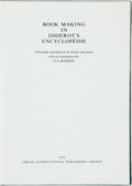 Books:Reference & Bibliography, G. G. Barber, editor. Book Making in Diderot's Encyclopédie: Afacsimile reproduction of articles and plates. Gregg ...