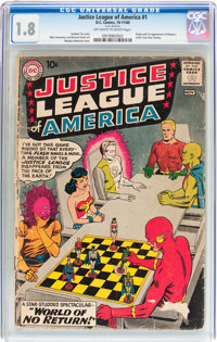 Justice League of America #1 (DC, 1960) CGC GD- 1.8 Off-white to white pages