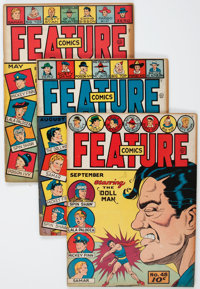 Feature Comics Group (Quality, 1941-47) Condition: Average FN+.... (Total: 5 Comic Books)