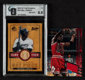 Basketball Cards:Lots, 2000 Michael Jordan Game Used Jersey & Bat Insert Cards (2)....