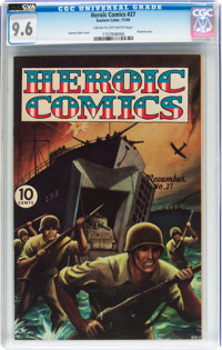 Heroic Comics #27 (Eastern Color, 1944) CGC NM+ 9.6 Cream to off-white pages