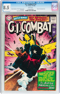 G.I. Combat #114 (DC, 1965) CGC VF+ 8.5 White pages