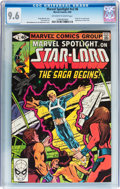 Modern Age (1980-Present):Superhero, Marvel Spotlight V2#6 Star-Lord (Marvel, 1980) CGC NM+ 9.6Off-white to white pages....