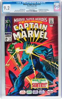 Marvel Super-Heroes #13 Captain Marvel (Marvel, 1968) CGC NM- 9.2 Off-white to white pages