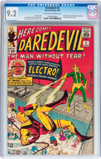 Daredevil #2 (Marvel, 1964) CGC NM- 9.2 Off-white to white pages