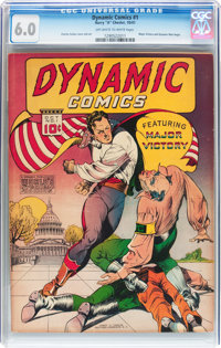 Dynamic Comics #1 (Chesler, 1941) CGC FN 6.0 Off-white to white pages