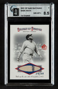 "Baseball Cards:Singles (1970-Now), 2001 SP Authentic ""Sultan Of Swatch"" Babe Ruth GAI NM-MT+ 8.5...."