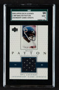 "Football Cards:Singles (1970-Now), 2000 Upper Deck Legends ""Legendary Game Jerseys"" Walter Payton#LJ-WP SGC 96 Mint 9...."