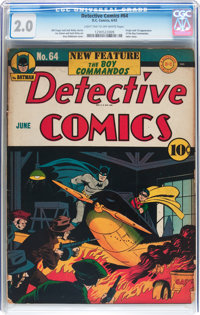 Detective Comics #64 (DC, 1942) CGC GD 2.0 Light tan to off-white pages