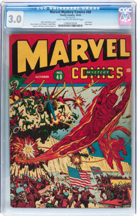 Marvel Mystery Comics #48 (Timely, 1943) CGC GD/VG 3.0 Light tan to off-white pages