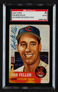Autographs:Sports Cards, Signed 1953 Topps Bob Feller #54 SGC Authentic....