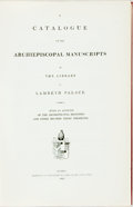 Books:Reference & Bibliography, A Catalogue of the Archiepiscopal Manuscripts in the Library atLambeth Palace. London: Law and Gilbert, 1812 (but actua...