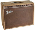 Musical Instruments:Amplifiers, PA, & Effects, 1960 Fender Super Brown Guitar Amplifier, Serial # 00712....
