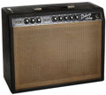 Musical Instruments:Amplifiers, PA, & Effects, 1965 Fender Deluxe Black Guitar Amplifier, Serial # A03281....