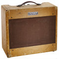 Musical Instruments:Amplifiers, PA, & Effects, 1953 Fender Deluxe Tweed Guitar Amplifier, Serial # 0711....