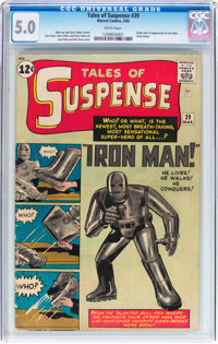 Tales of Suspense #39 (Marvel, 1963) CGC VG/FN 5.0 White pages