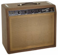 Musical Instruments:Amplifiers, PA, & Effects, 1962 Fender Princeton Brown Guitar Amplifier, Serial # P01365....