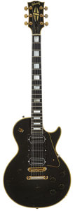 Musical Instruments:Electric Guitars, Buck Dharma's 1959 Gibson Les Paul Custom Black Solid Body ElectricGuitar, Serial # 9 2724. ...
