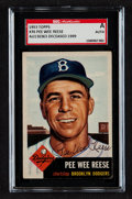 Autographs:Sports Cards, Signed 1953 Topps Pee Wee Reese #76 SGC Authentic....