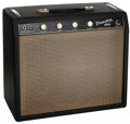 Musical Instruments:Amplifiers, PA, & Effects, 1964 Fender Princeton Black Guitar Amplifier, Serial # P09069....