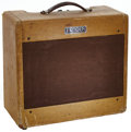 Musical Instruments:Amplifiers, PA, & Effects, 1953 Fender Deluxe Tweed Guitar Amplifier, Serial # 7240....