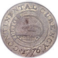 Colonials, 1776 $1 Continental Dollar, CURENCY, Pewter VF25 PCGS. CAC. Newman 1-C, W-8445, R.3....