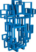 Furniture : Continental, Studio Makkink & Bey: RIANNE MAKKINK (Dutch, b. 1964) andJURGEN BEY (Dutch, b. 1965). Blue Frame Vitrine, 2009,Droog. ...