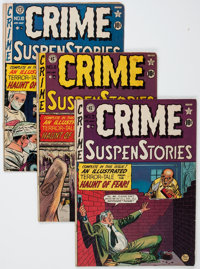 Crime SuspenStories Group (EC, 1950-55) Condition: Average GD+.... (Total: 6 Comic Books)