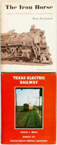 Books:Americana & American History, [Trains]. Henry B. Comstock. The Iron Horse. New York:Galahad Books, 1971. [with:] Johnnie J. Myers. Texas ... (Total:2 Items)