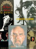Books:Biography & Memoir, [Biography] Group of Six Books. Includes works about Chuck Close,Francis Bacon and Aubrey Beardsley. Various publishers and...(Total: 6 Items)