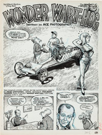 "Gilbert Shelton and Tony Bell Drag Cartoons#41 ""Wonder Wart-Hog Becomes an Ace Photographer!"" Partial Story Or..."