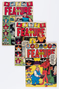 Golden Age (1938-1955):Miscellaneous, Feature Comics Group (Quality, 1943-47) Condition: Average VG/FN.... (Total: 4 Comic Books)