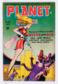 Golden Age (1938-1955):Science Fiction, Planet Comics #38 (Fiction House, 1945) Condition: GD/VG....