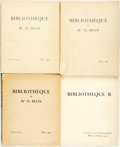 "Books:Reference & Bibliography, [Bibliography]. Bibliothèque de Mme. Th. Belin. Paris: L.Giraud-Badin, 1936. Three parts and ""Bibliothéque B***."" ...(Total: 4 Items)"