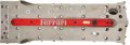 Automobilia, FERRARI F1 RACE CAR ENGINE VALVE COVER, 2000s. 7 x 23 x 4-3/4inches (17.8 x 58.4 x 12.1 cm). ...