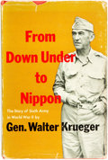 Books:Americana & American History, [Second World War]. General Walter Krueger. From Down Under toNippon. Washington: Combat Forces Press, 1953. Pe...