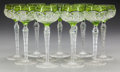 Art Glass:Other , ELEVEN CUT-GLASS WINE GLASSES, circa 1900. 7-3/4 inches high (19.7cm). Property of the Estate of Mr. and Mrs. William R. ... (Total:11 Items)