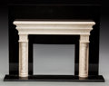 Decorative Arts, Continental:Other , A CONTINENTAL MARBLE MODEL FIREPLACE SURROUND, 20th century. 15 x 19 x 4-1/4 inches (38.1 x 48.3 x 10.8 cm). ...