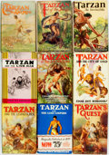 Books:Science Fiction & Fantasy, Edgar Rice Burroughs. Group of Nine Books from the TarzanSeries. Grosset & Dunlap, [various dates]. ... (Total: 9 Items)