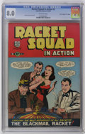 "Golden Age (1938-1955):Crime, Racket Squad in Action #3 Davis Crippen (""D"" Copy) pedigree (Charlton, 1952) CGC VF 8.0 Off-white pages. Frank Frollo cover ..."