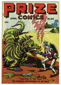 Golden Age (1938-1955):Miscellaneous, Prize Comics #52 San Francisco pedigree (Prize, 1945) Condition: NM-. Frankenstein story with Dick Briefer art. Yank and Doo...