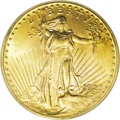 Saint-Gaudens Double Eagles: , 1923 $20 MS65 PCGS. A handsome golden-tan Gem with vivacious lusterand an attentive strike. Impressively smooth, although ...