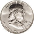 Franklin Half Dollars: , 1960-D 50C MS66 NGC. The 1960-D has a mintage above 18 millionpieces, but many of those that escaped circulation contribut...