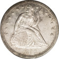 Seated Dollars: , 1850 $1 MS61 PCGS. The Seated dollar series has more than its shareof low mintage dates. Eve...